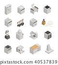 set, icons, kitchen 40537839