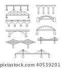 Types of bridges in linear style set  40539201
