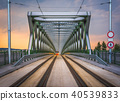 bridge, old, sunset 40539833