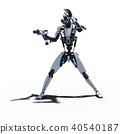 인간형 로봇 perming3DCG 일러스트 소재 40540187