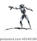 인간형 로봇 perming3DCG 일러스트 소재 40540189