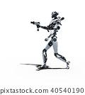 인간형 로봇 perming3DCG 일러스트 소재 40540190