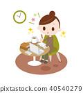 ผู้หญิงกำลังศึกษาคุณสมบัติที่บ้าน 40540279
