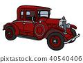 car vintage red 40540406