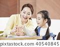 교육, 딸, 엄마 40540845