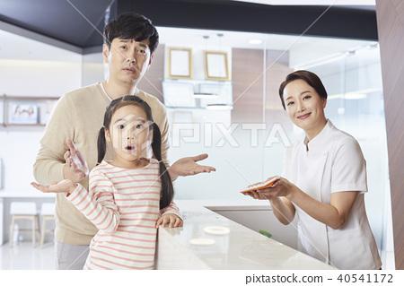 병원,간호사,아빠,딸 40541172