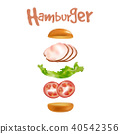 burger, food, hamburger 40542356