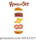 burger, food, hamburger 40542357