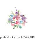 水彩畫 花朵 花 40542389