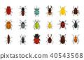 bugs icon set 40543568
