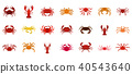 cancer, icon, set 40543640