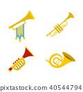 Trumpet icon set, flat style 40544794