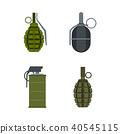 grenade icon set 40545115