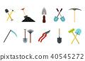 garden, tools, icon 40545272