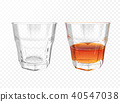 Whiskey glass vector illustration realistic crockery 40547038