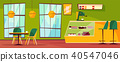 Cafe or cafeteria interior vector cartoon illustration 40547046