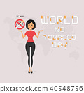 Pretty woman and Quit Tobacco vector logo design 40548756