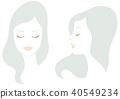 閉著眼睛的女人臉上設置 40549234