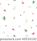 Watercolor tropical pineapple pattern 40550192