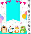 kids in animal costumes for kids party template v 40550898