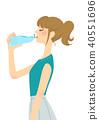 塑料瓶 女生 女孩 40551696