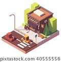Vector isometric barber shop 40555556