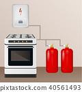 气体 煤气 煮沸 40561493