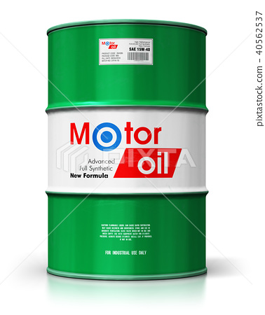 Barrel with motor oil lubricant isolated on white 40562537