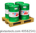 Barrels with motor oil lubricant shipping pallet 40562541