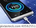 Smartphone charging with solar panel charger 40562551