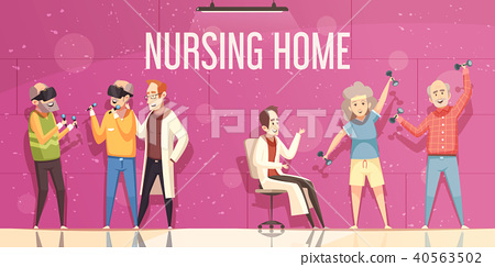 Nursing Home Illustration 40563502
