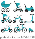 kids, stroller, bicycle 40563730