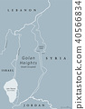 Golan Heights political map gray 40566834