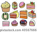 Desserts and sweets color 40567666