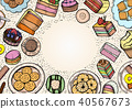 Sweets and bakery set. 40567673