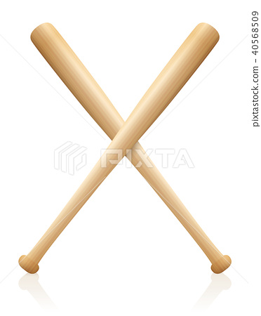 Baseball Bats X Crossed 40568509