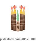 Sagrada Familia, Barcelona icon, cartoon style  40570300