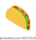 vector, food, tortilla 40571518