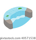 Horseshoe Fall icon, isometric 3d style  40571538