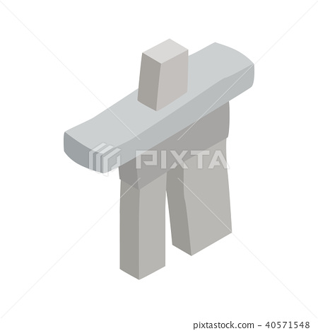 Inukshuk in Canada icon, isometric 3d style  40571548