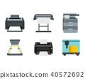 printer, icon, set 40572692