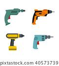 hand, drill, icon 40573739