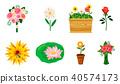Flower icon set, cartoon style 40574173