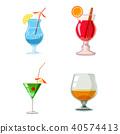 cocktail, icon, set 40574413