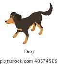 Dog icon, isometric style 40574509