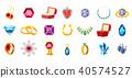 Jewerly icon set, cartoon style 40574527
