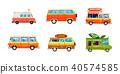 多功能旅行车 图标 卡通 40574585