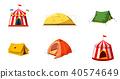 tent, icon, set 40574649