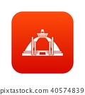 Polonnaruwa, ancient stupa icon digital red 40574839