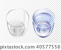 Vectpr realistic empty, glass with water cup set 40577556